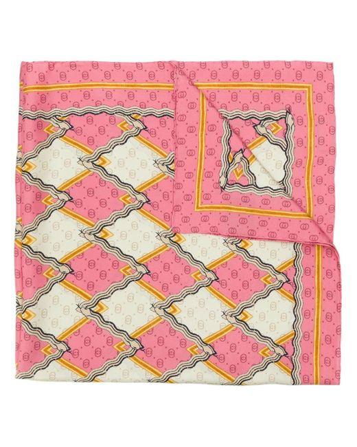 Gucci プリント スカーフ Pink