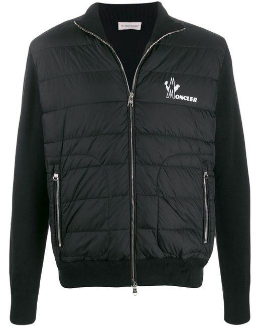 Moncler Jacke mit gesteppter Front in Black für Herren