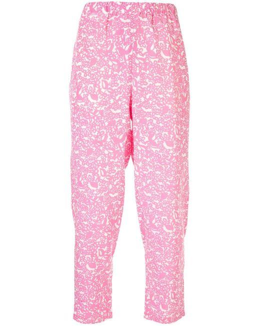 Marni クロップド テーパードパンツ Pink