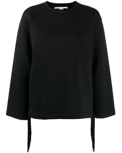 Stella McCartney フリンジ スウェットシャツ Black