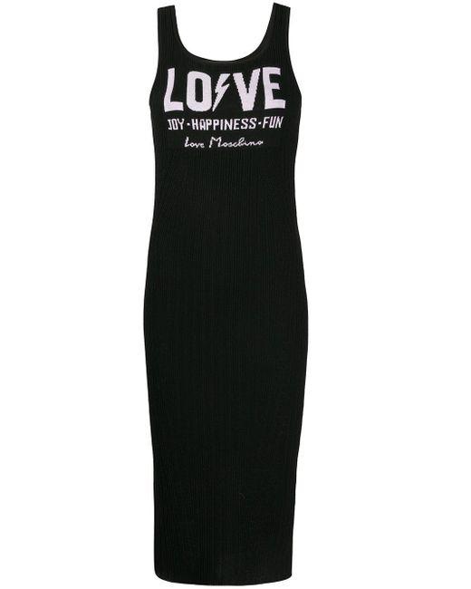 Love Moschino リブニット ドレス Black