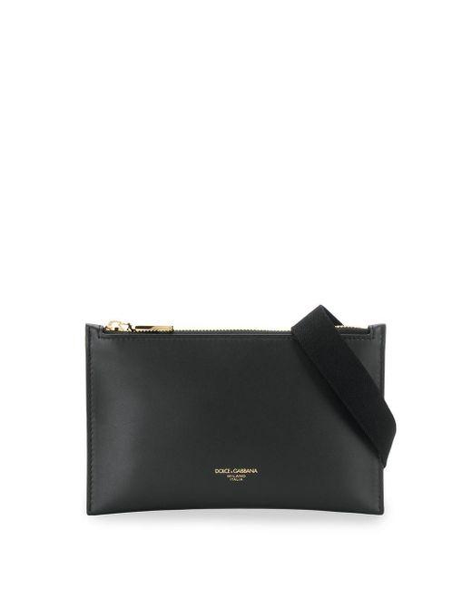 メンズ Dolce & Gabbana ジップ ベルトバッグ Black