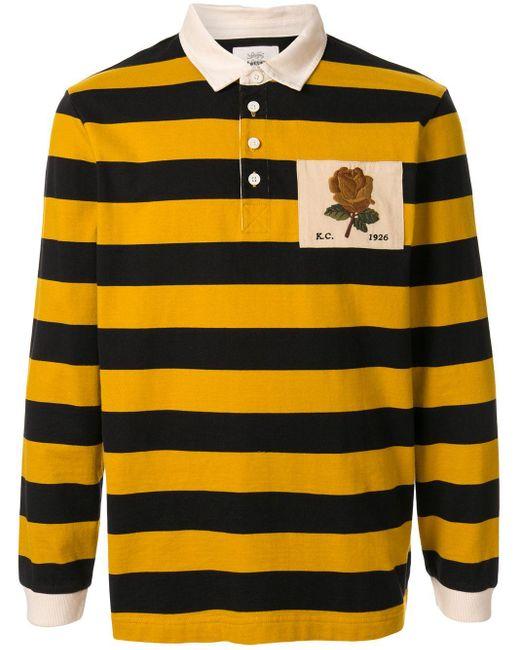 メンズ Kent & Curwen ストライプ ポロシャツ Yellow