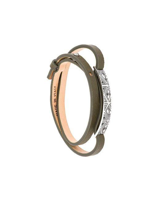 Northskull - Green Woto Tag Bracelet - Lyst