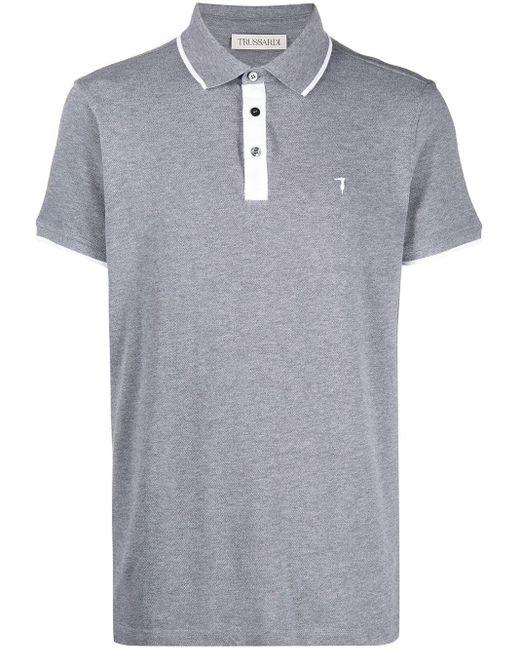 メンズ Trussardi ロゴ ポロシャツ Gray