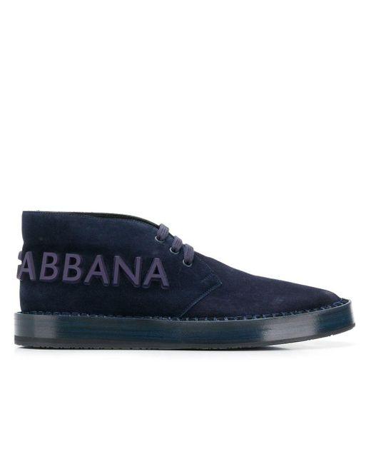 Высокие Кроссовки С Логотипом Dolce & Gabbana для него, цвет: Blue