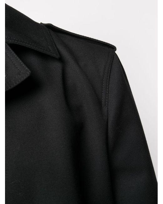 Плащ На Пуговицах Saint Laurent для него, цвет: Black