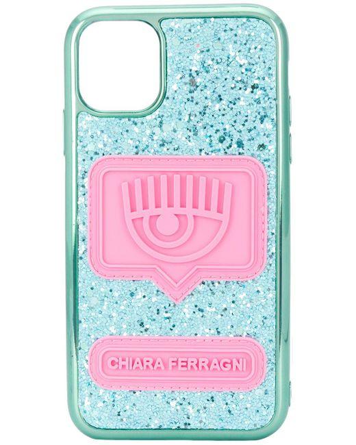Chiara Ferragni Eyelike Iphone 11 ケース Blue