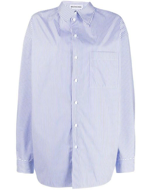 Balenciaga ストライプ シャツ Blue