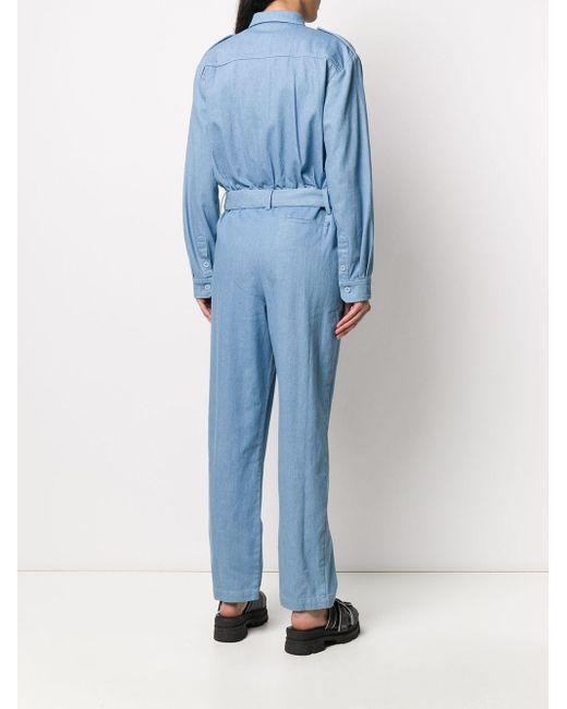 ANDAMANE ベルテッド ジャンプスーツ Blue