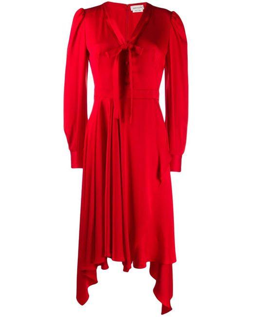 Alexander McQueen ドレープドレス Red