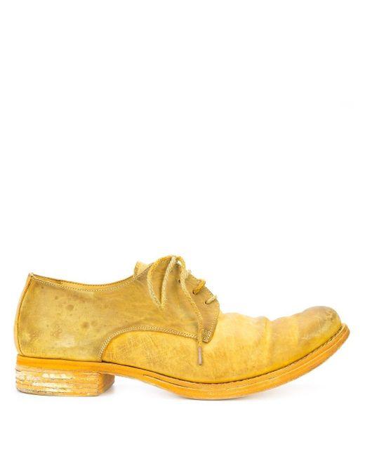 A Diciannoveventitre Schnürschuhe in Distressed-Optik in Yellow für Herren