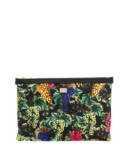 Клатч С Принтом Dolce & Gabbana, цвет: Black