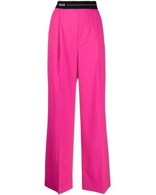 MSGM ワイド テーラードパンツ Pink