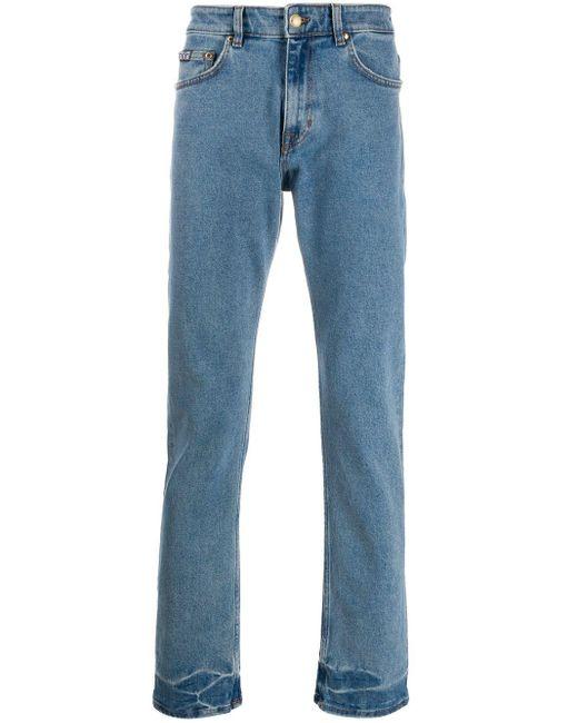 メンズ Versace Jeans トロピカルポケット ストレートジーンズ Blue