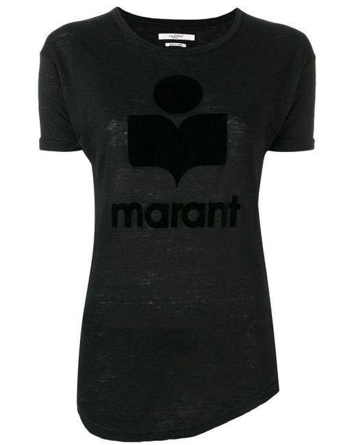 Étoile Isabel Marant ロゴ Tシャツ Black