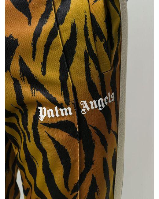 メンズ Palm Angels タイガー ストライプ スウェットパンツ Brown