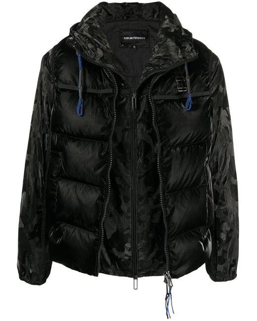 メンズ Emporio Armani カモフラージュ ジャケット Black