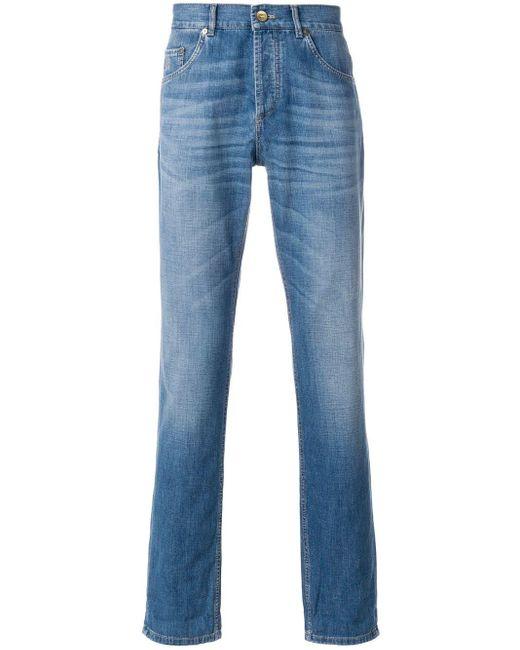 メンズ Brunello Cucinelli ストレートジーンズ Blue