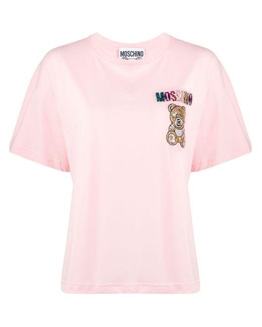 Moschino ラインストーン Tシャツ Pink