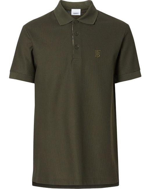 メンズ Burberry モノグラム ポロシャツ Green