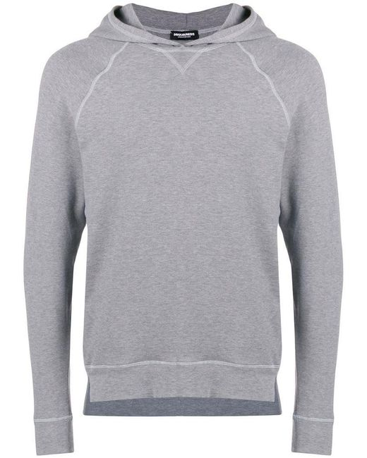 DSquared² - Gray Logo Track Hoodie for Men - Lyst
