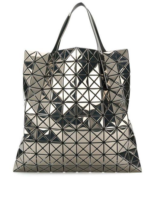 b2a58055a403 Lyst - Bao Bao Issey Miyake Metallic Prism Tote Bag in Metallic
