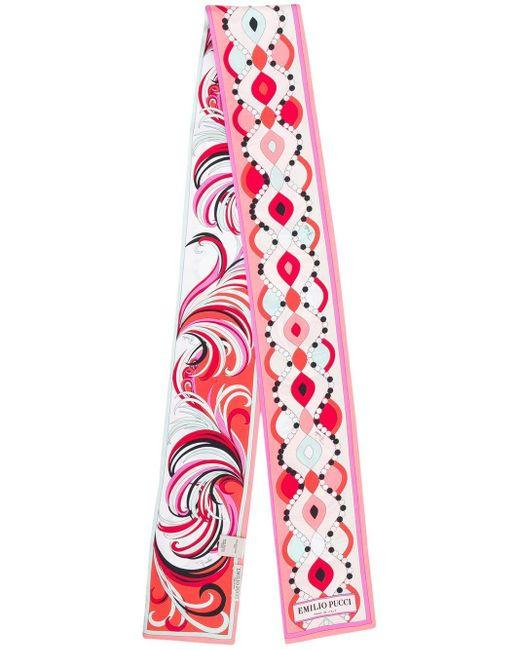 Emilio Pucci プリントスカーフ Pink
