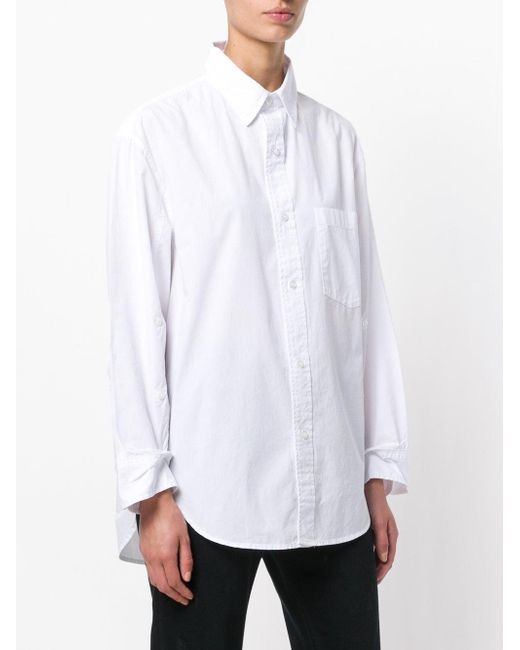 Citizens of Humanity White Buttoned Sleeves Shirt