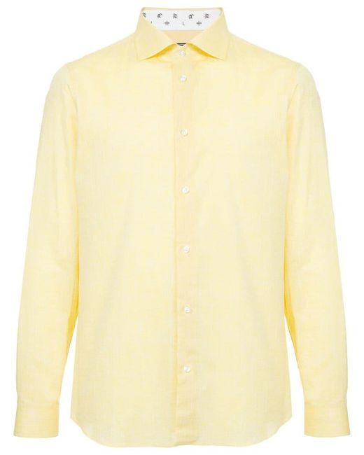 Loveless - Yellow Lightweight Plain Shirt for Men - Lyst