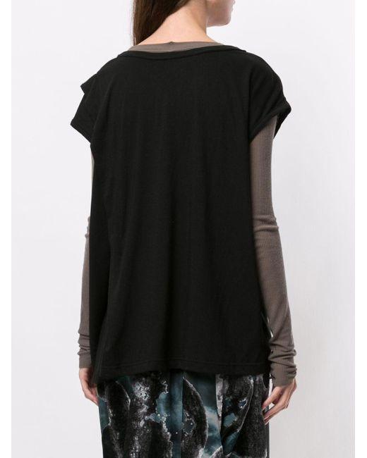 Y's Yohji Yamamoto ドレープ Tシャツ Black