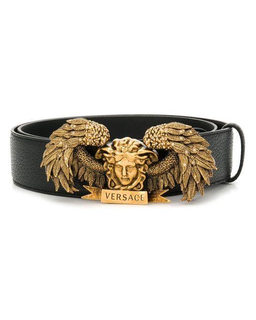 Versace Black Medusa Buckle Belt for men
