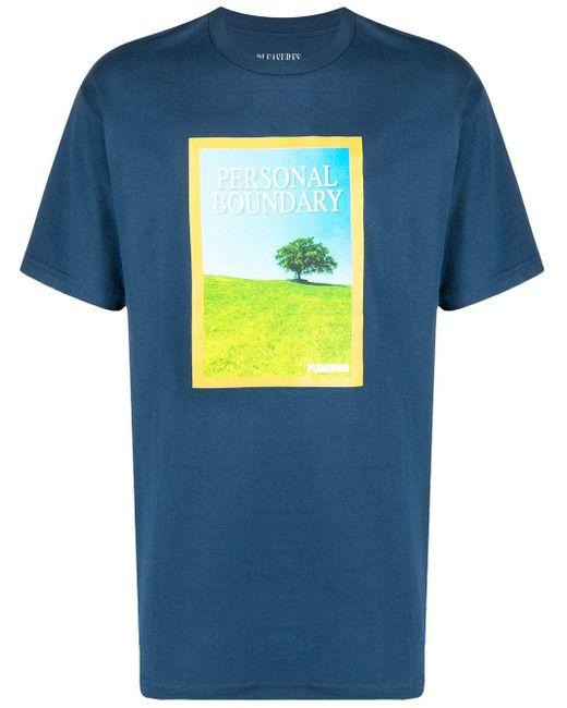 メンズ Pleasures グラフィック Tシャツ Blue