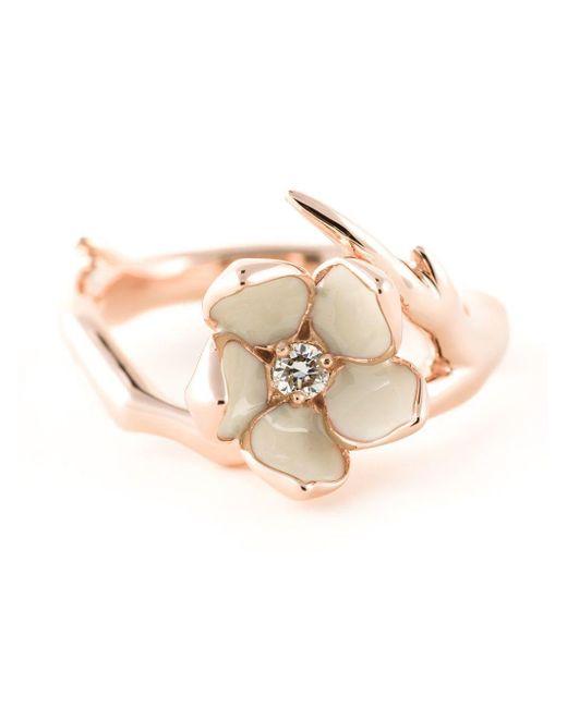 Shaun Leane Metallic 'cherry Blossom' Diamond Ring