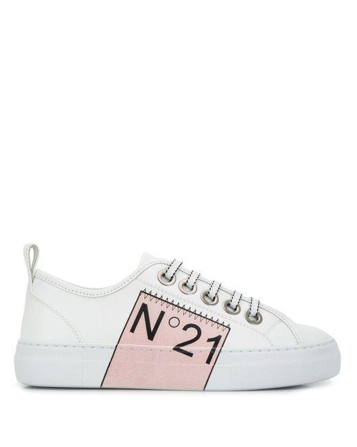 N°21 ロゴ スニーカー White