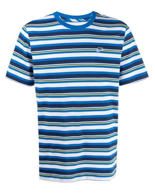 メンズ Nike ストライプ Tシャツ Blue