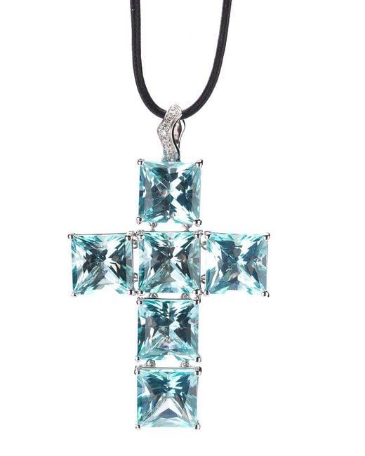 Gavello - Black Cross Pendant Necklace - Lyst