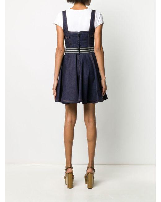 Расклешенное Джинсовое Платье Мини Dolce & Gabbana, цвет: Blue