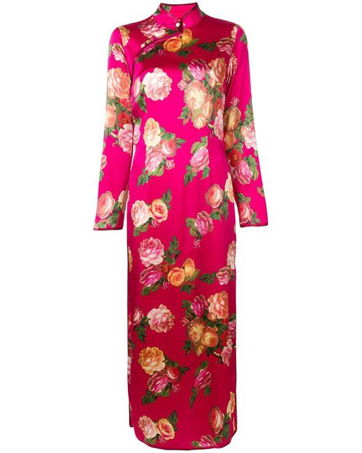 F.R.S For Restless Sleepers - Pink Rose Print Shift Dress - Lyst