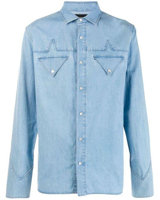 メンズ Mr & Mrs Italy クラシックシャツ Blue