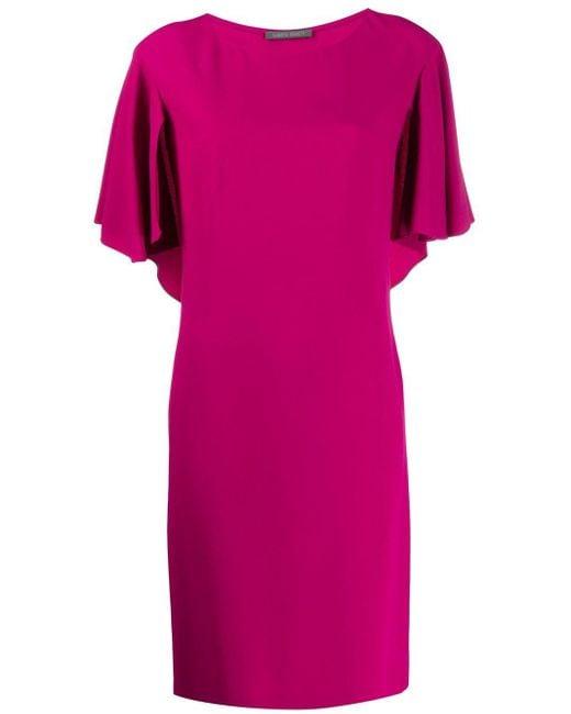 Alberta Ferretti ボートネック ドレス Pink