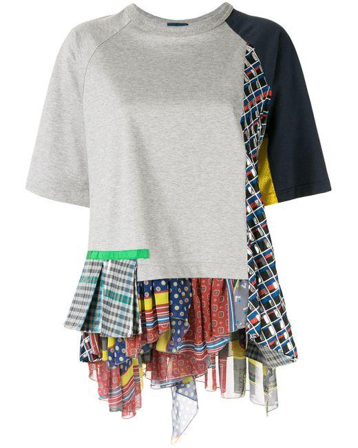 Kolor パッチワーク Tシャツ Gray
