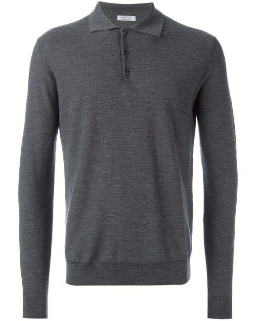 メンズ Fashion Clinic Timeless ポロカラー セーター Gray
