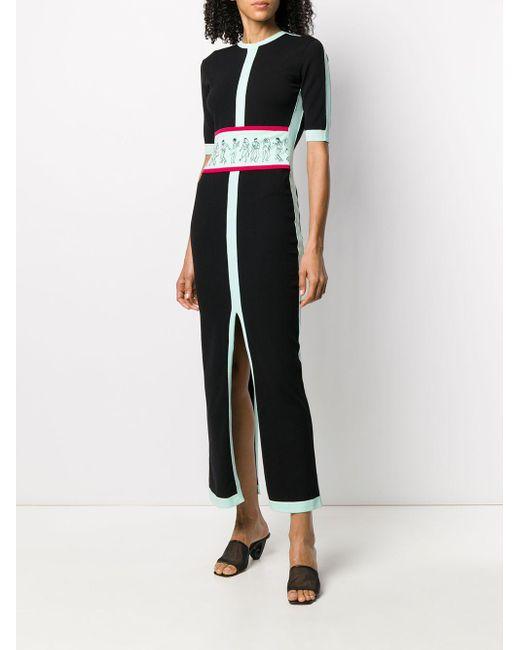 Kirin カラーブロック ドレス Black