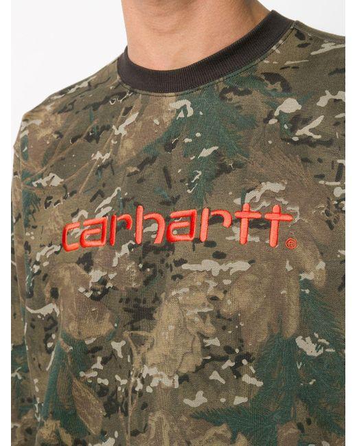 メンズ Carhartt WIP カモフラージュ プルオーバー Green