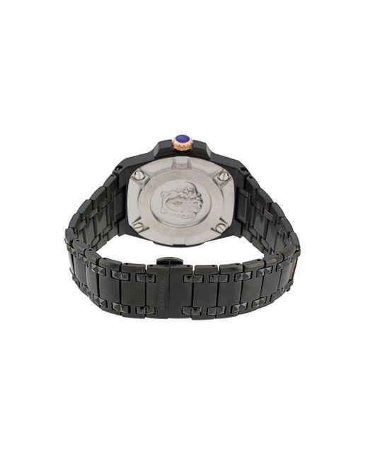 メンズ Versace チェーン リアクション 45mm Black