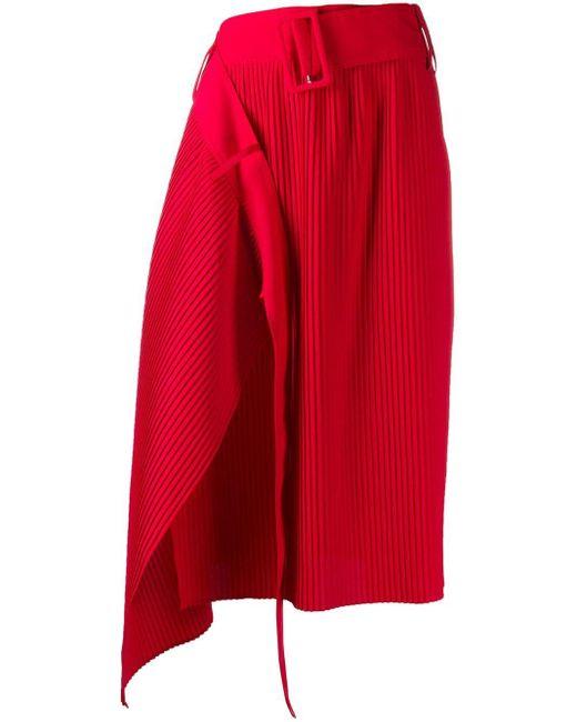 ROKH プリーツスカート Red