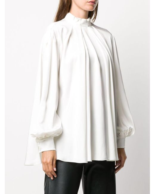 Плиссированная Блузка Alexander McQueen, цвет: White