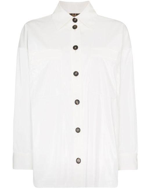 Fendi オーバーサイズ シャツ White