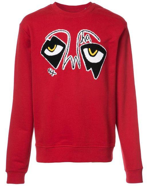 メンズ Haculla Eyez Of Da World スウェットシャツ Red